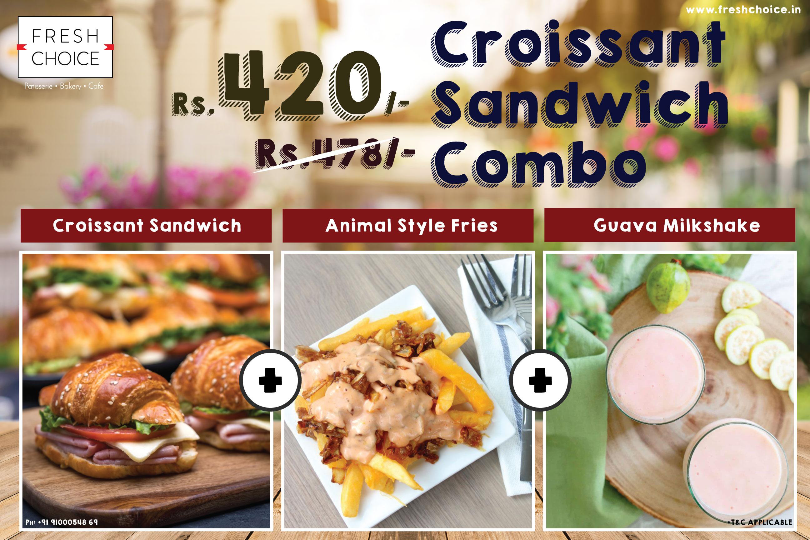 Croissant-Sandwich-Combo